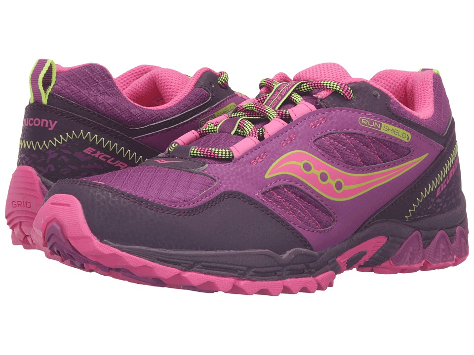 Saucony Kids - Excursion Water Shield (Big Kid) (Berry/Pink/Citron) Girls Shoes