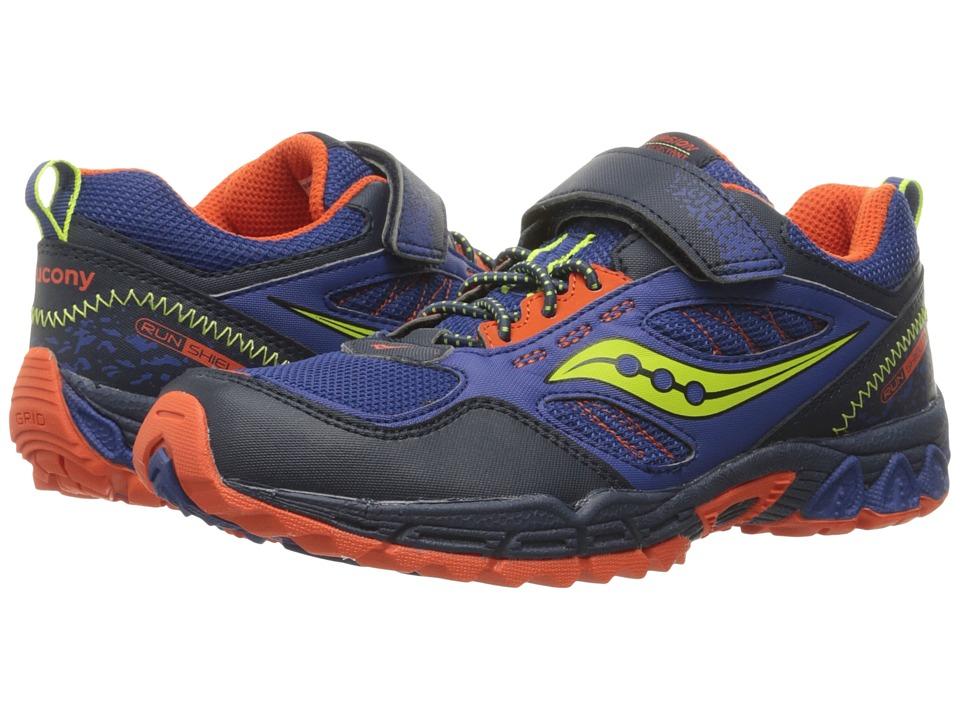 Saucony Kids - Excursion Water Shield A/C (Little Kid) (Blue/Citron/Orange) Boys Shoes