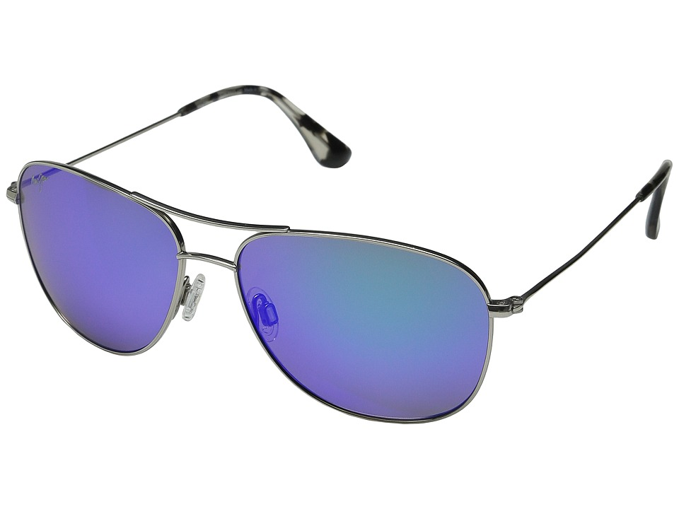 Maui Jim - Cliff House (Silver/Blue Hawaii) Sport Sunglasses