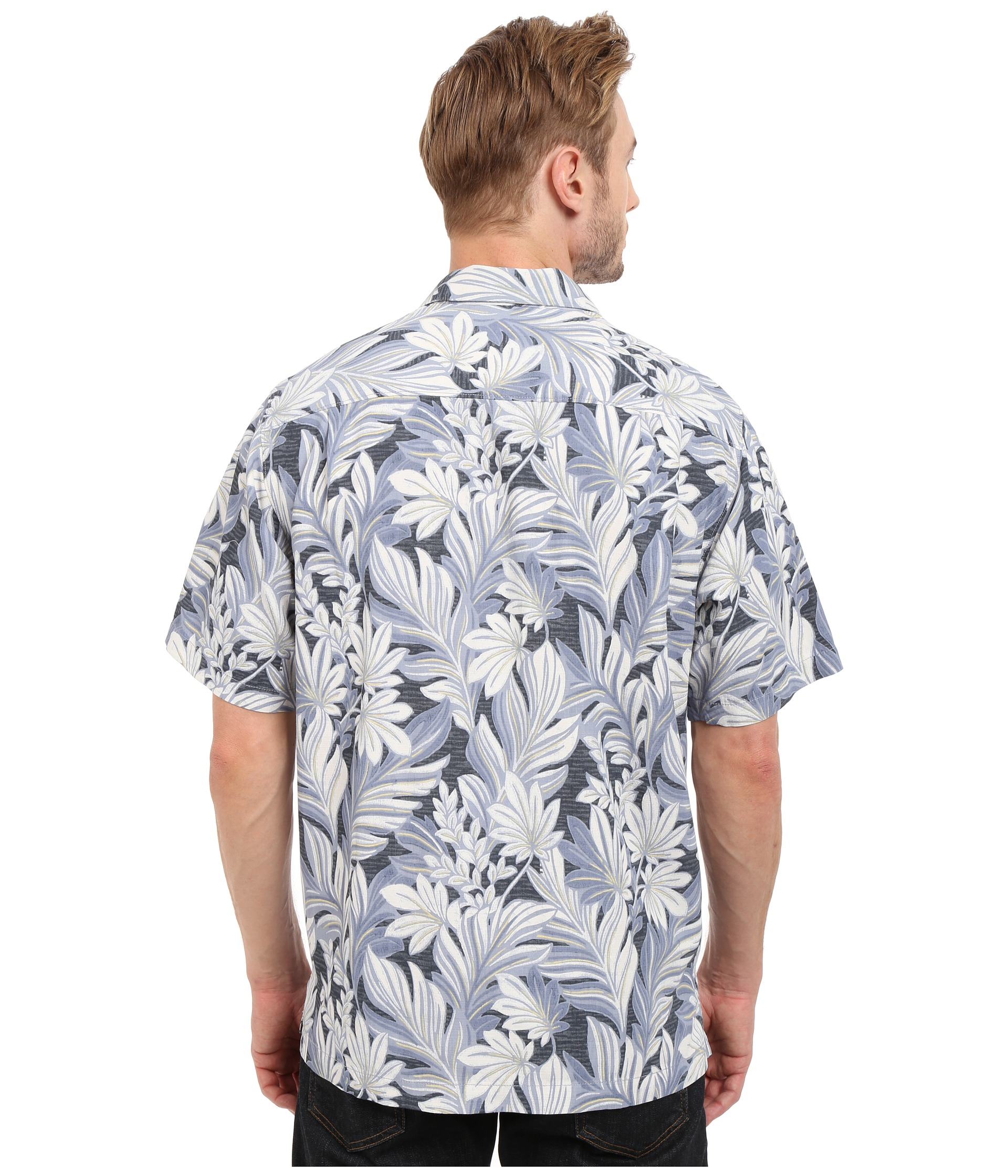 Tommy bahama garden of hope and courage camp shirt black for Tommy bahama florida shirt