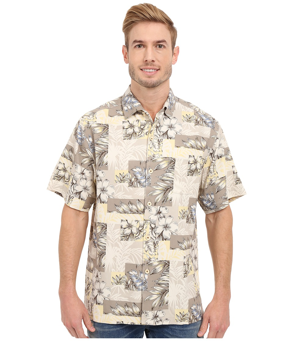 Tommy Bahama - Plumeria Patchwork Tortola Silk Camp Shirt (Continental) Men's Clothing