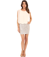 Aidan Mattox - Blouson Cocktail Dress with Stretch Sequin Skirt