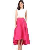 Aidan Mattox - Cap Sleeve Sequin Top with Taffeta A Line High-Low Skirt