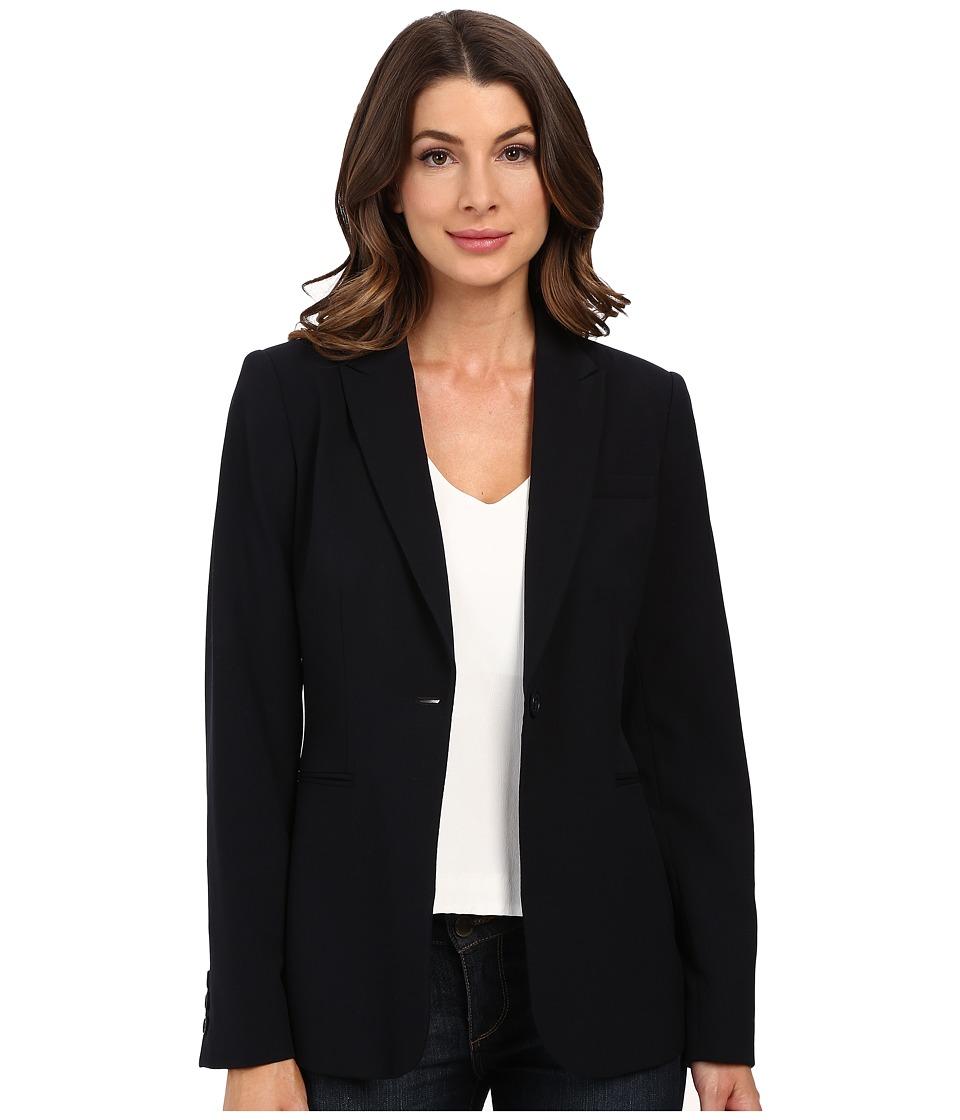 Calvin Klein 1 Button Jacket Navy Womens Jacket