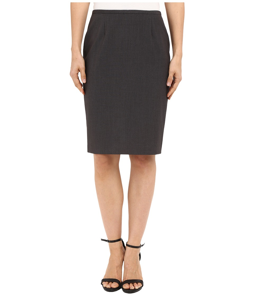 Calvin Klein Pencil Skirt Charcoal Melange Womens Skirt