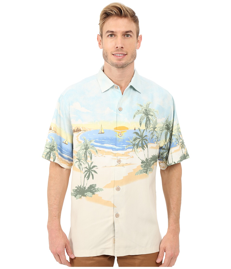 1940s Style Mens Shirts Tommy Bahama - Sunscape Isle Camp Shirt Continental Mens Clothing $102.99 AT vintagedancer.com