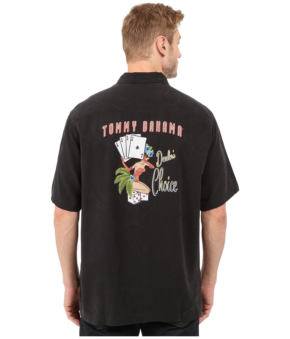 Easy1940sMen8217sFashionGuide Tommy Bahama - Dealers Choice Camp Shirt Black Mens Clothing $138.00 AT vintagedancer.com