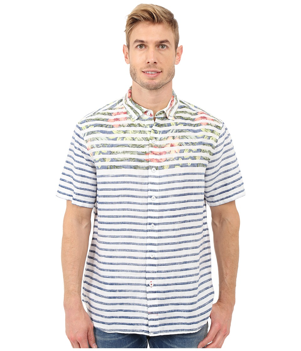 Tommy Bahama Breton Blooms Breezer Linen Camp Shirt (Blue...