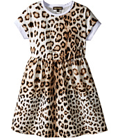 Roberto Cavalli Kids - Short Sleeve All Over Print Jersey Dress (Toddler/Little Kids)