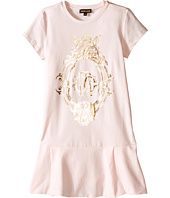 Roberto Cavalli Kids - Short Sleeve Drop Skirt T-Shirt Dress (Big Kids)