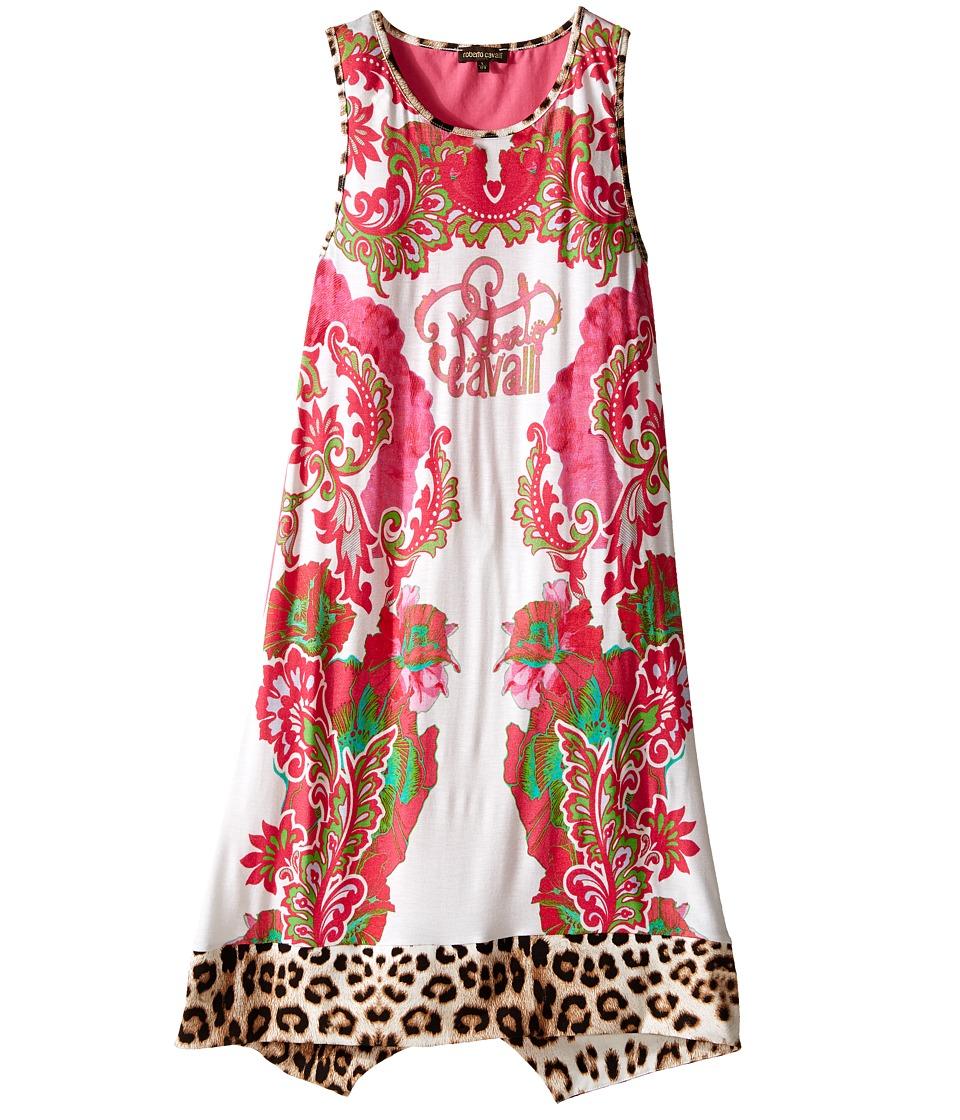 Roberto Cavalli Kids Multi Print Tank Dress Big Kids White/Multi Girls Dress