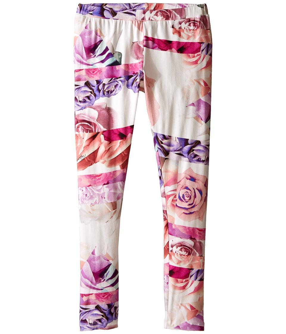 Roberto Cavalli Kids All Over Print Leggings Big Kids Rose Print Girls Casual Pants