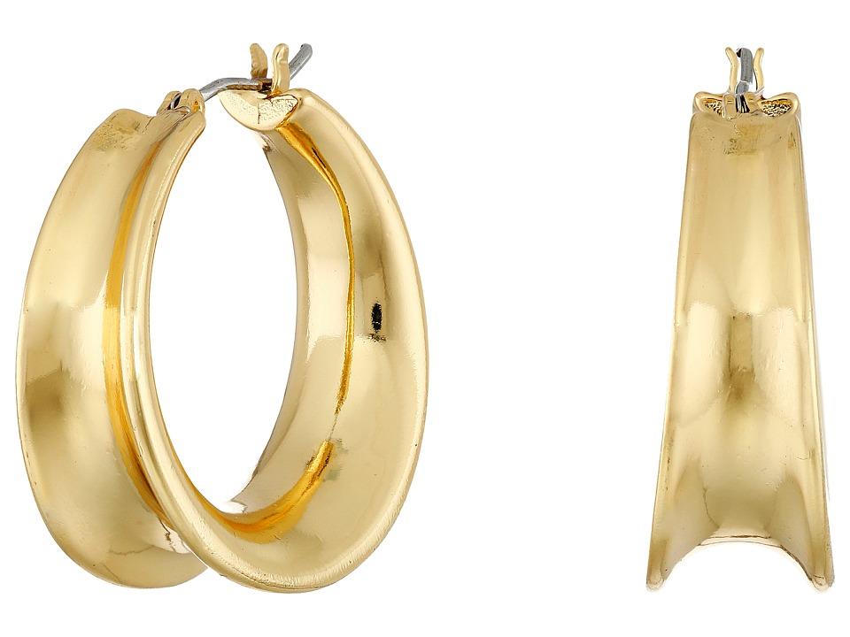 LAUREN Ralph Lauren - Concave Clickit Hoop Earrings (Gold) Earring