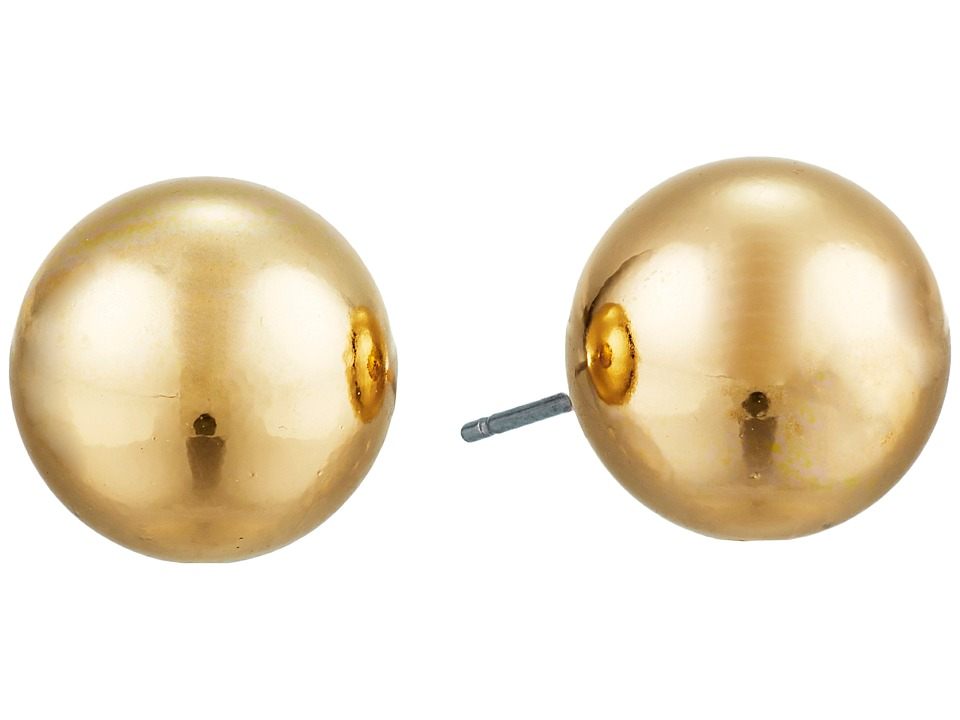 LAUREN Ralph Lauren - 12mm Stud Earrings (Gold) Earring