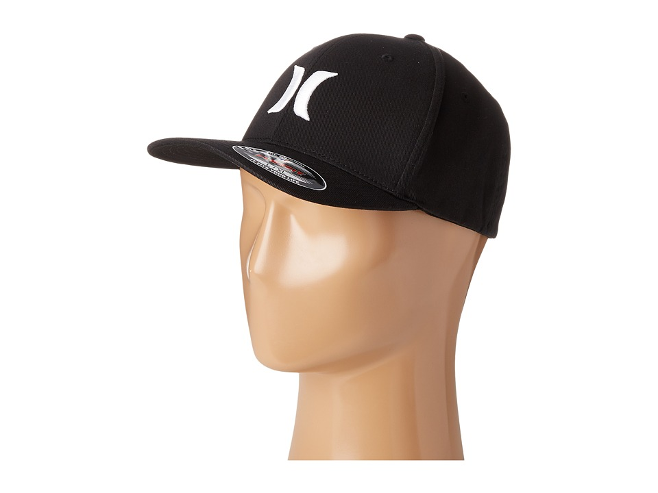 Hurley One Only Flexfit(r) Hat (Black/White) Caps
