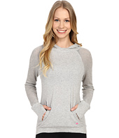 Pink Lotus - Ocean Waves Mediate Raglan Long Sleeve Hooded Jacket