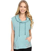 Pink Lotus - Ocean Waves Maintain Cowl Hoodie Vest w/ Front Pocket