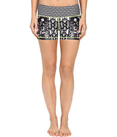 Pink Lotus - Floral Burst Lead Two-Tone Print Shorts