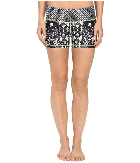 Pink Lotus Floral Burst Lead Two-Tone Print Shorts