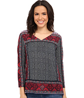 Lucky Brand - Batik Flowers Top
