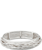 Robert Lee Morris - Shiny Silver Wire Wrap Bangle