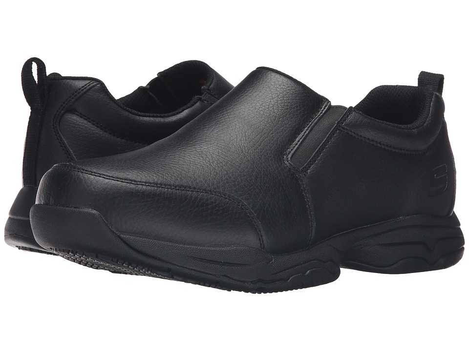 SKECHERS Work Felton Camak (Black Leather) Men