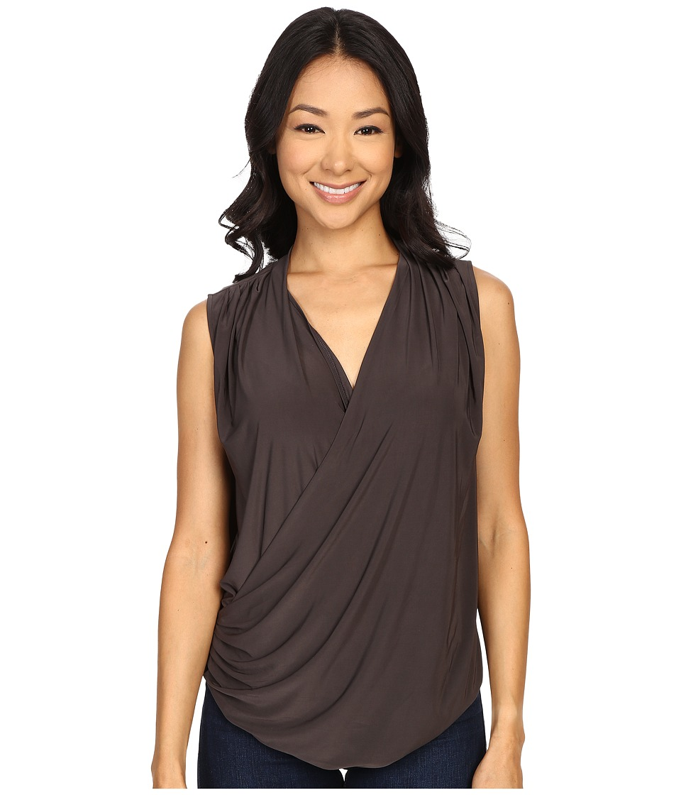 NIC+ZOE - Feel Good Wrap Top (Phantom) Womens Clothing