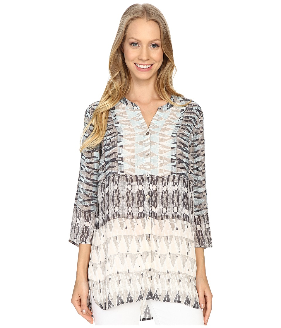 NICZOE Mosaic Top Multi Womens Clothing