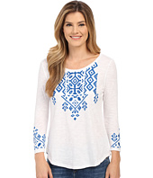 Lucky Brand - Tile Embroidered Tee
