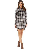Lucky Brand - Plaid Henley Shirtdress
