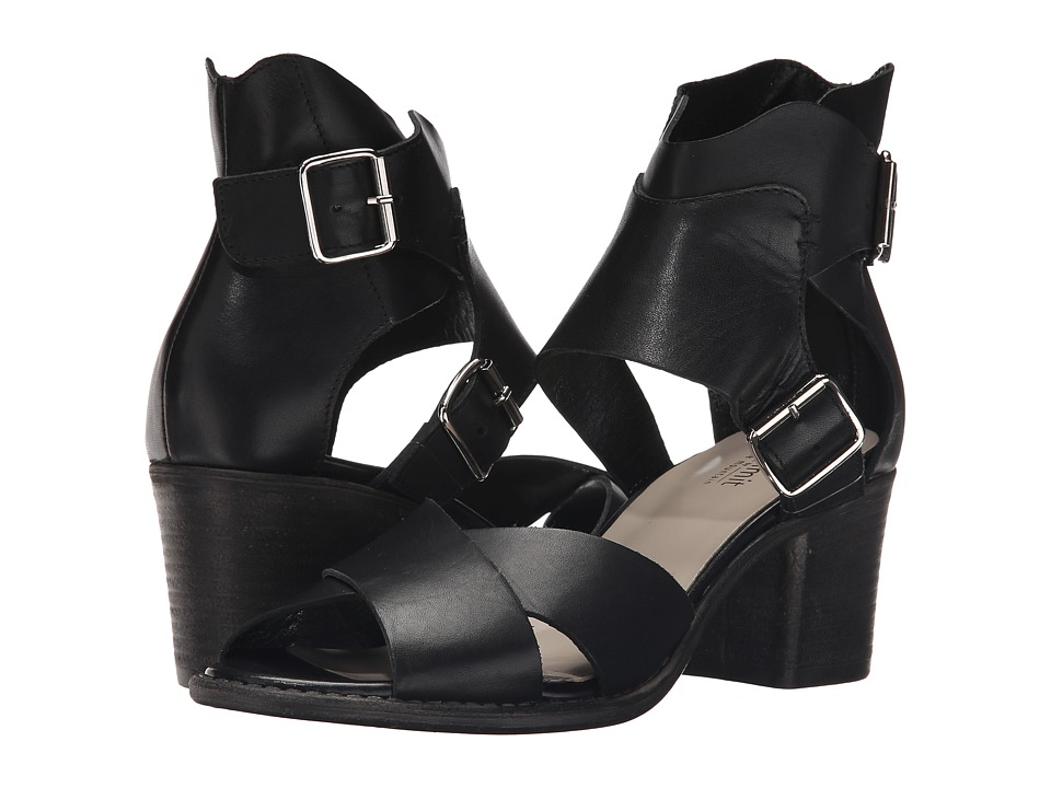 Summit White Mountain Beverlyn Black Leather High Heels