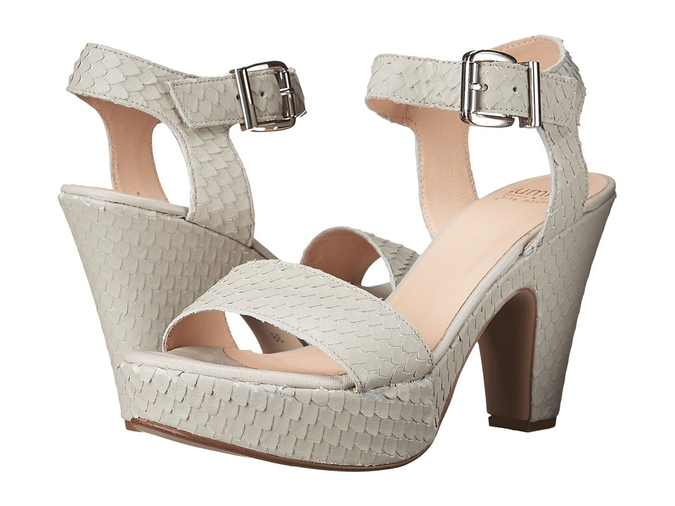 Summit White Mountain Abrianna Light Grey Exotic Leather High Heels