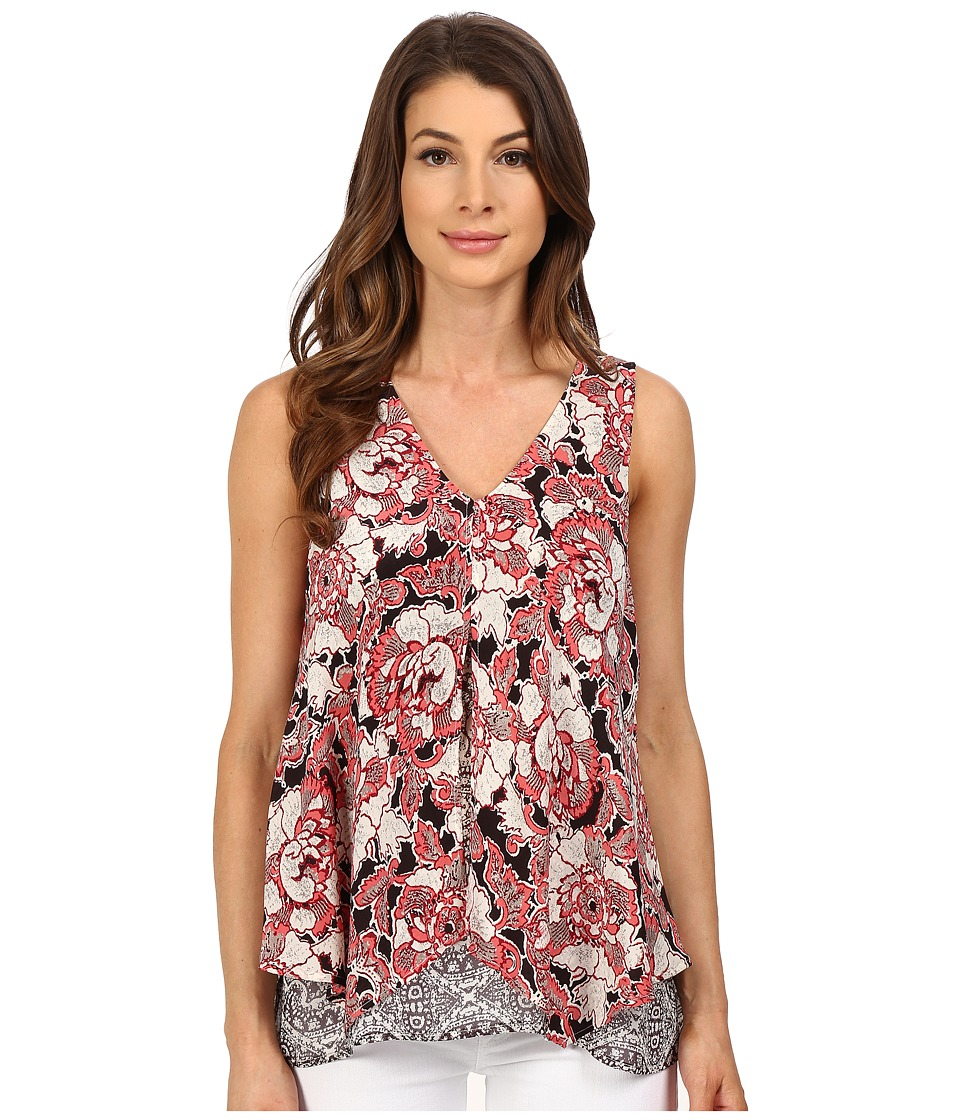 Lucky Brand Floral Mixed Print Tank Top Multi Womens Sleeveless