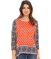 Lucky Brand - Border Print Knit Top