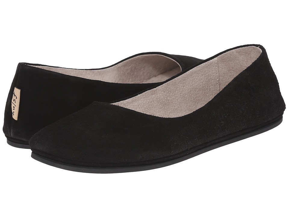 French Sole Sloop (Black Suede) Flats