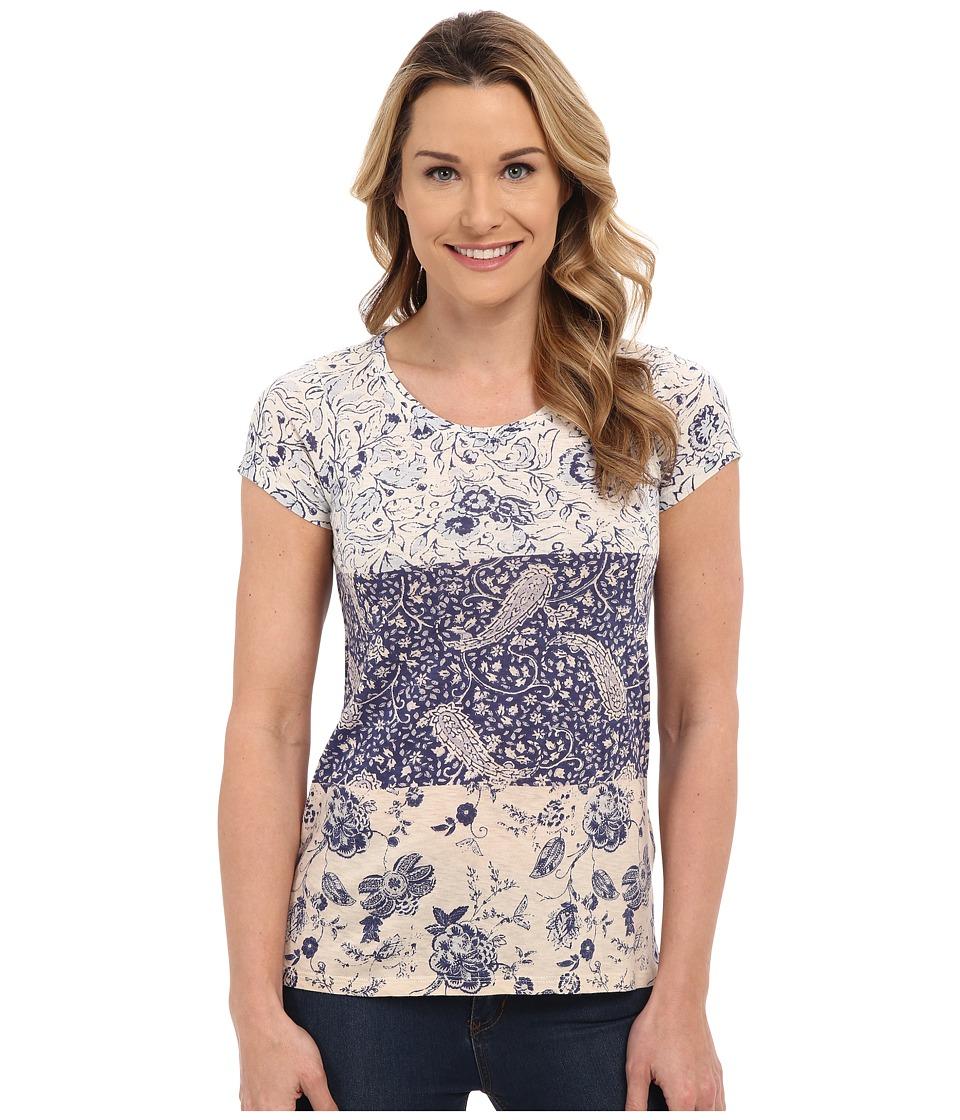 Lucky Brand Mixed Print Tee Micro Chip Womens T Shirt