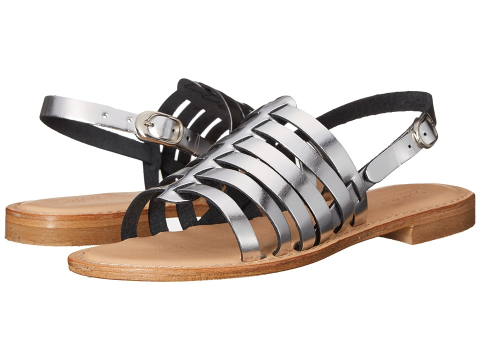 Summit White Mountain Elanna Silver Metallic Leather Womens Sandals