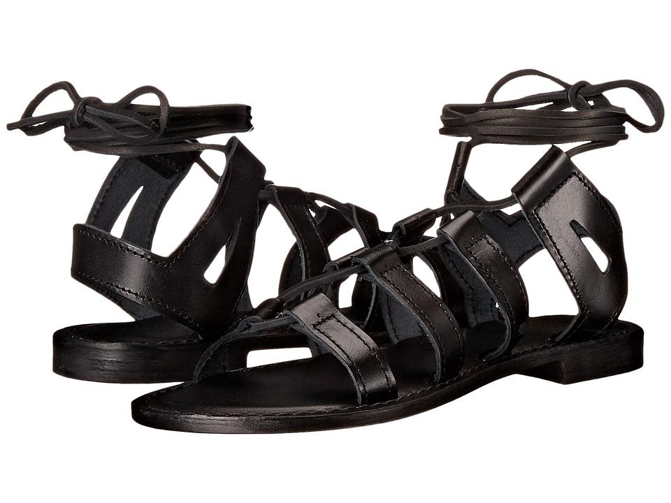 Summit White Mountain Felisha Black Leather Womens Sandals