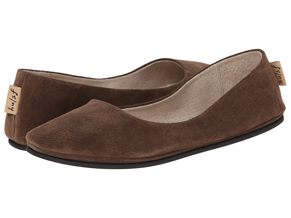 French Sole Sloop Flat (Chocolate Suede) Flats