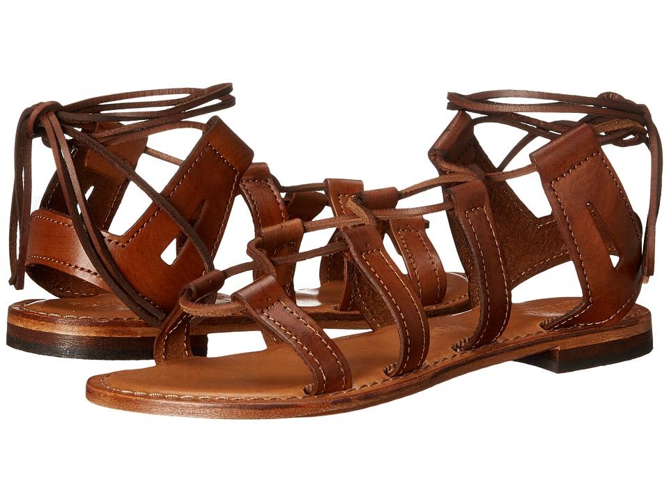 Summit White Mountain Felisha Cognac Leather Womens Sandals