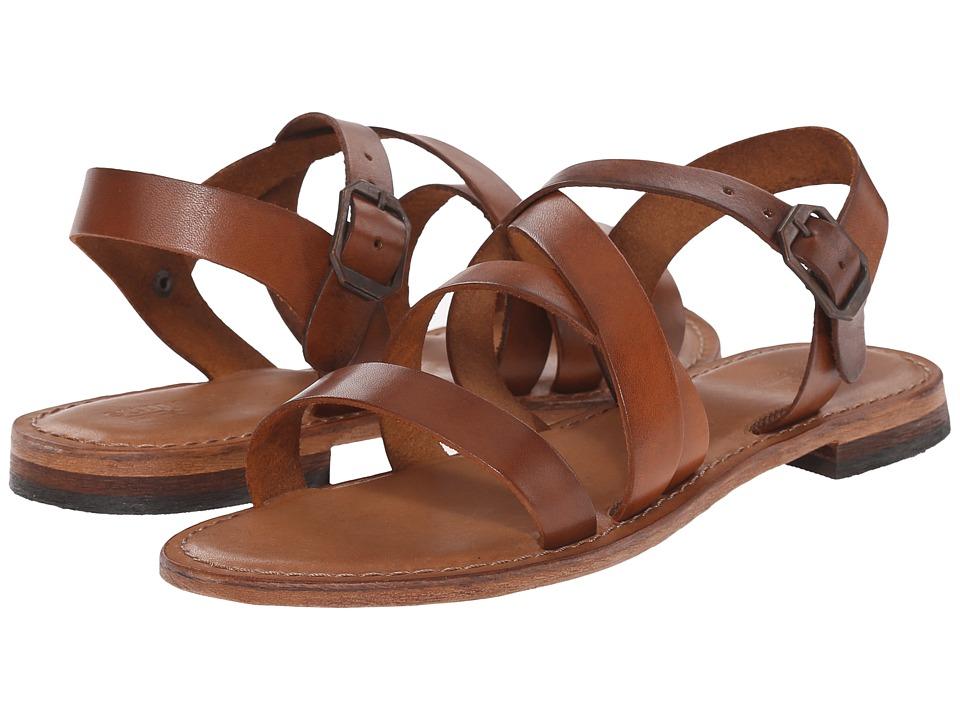 Summit White Mountain Elissia Cognac Leather Womens Sandals