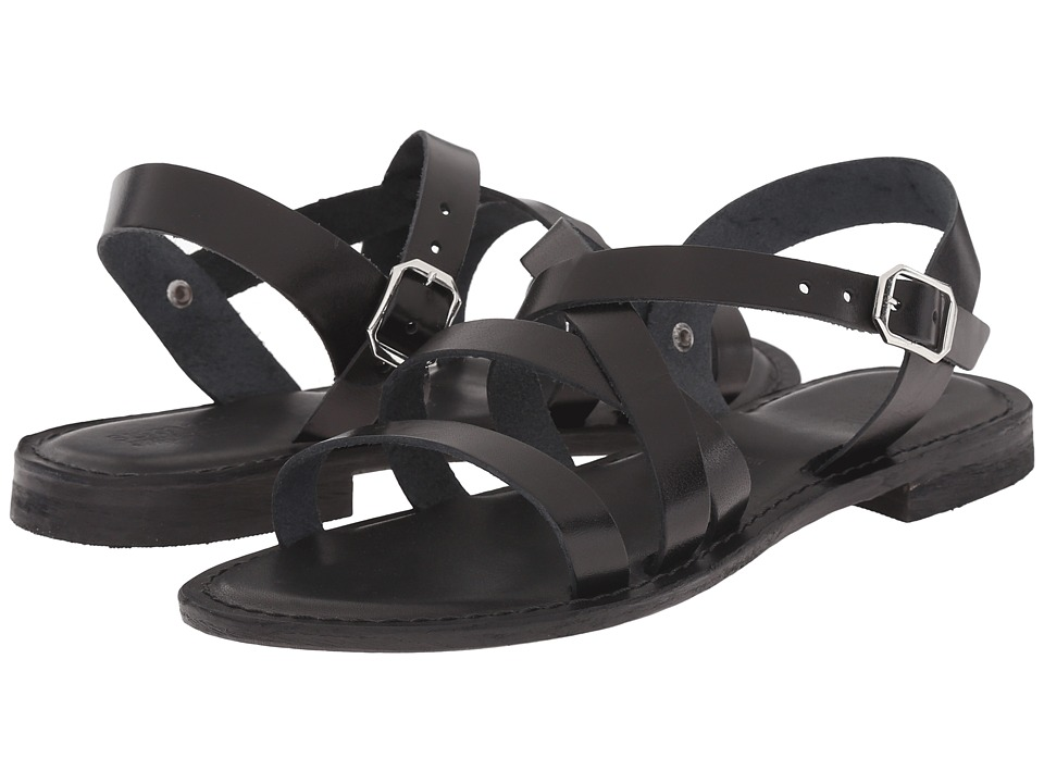 Summit White Mountain Elissia Black Leather Womens Sandals
