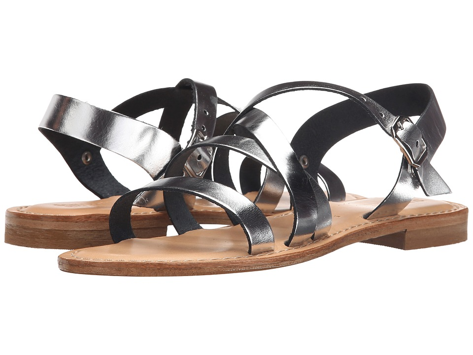 Summit White Mountain Elissia Silver Leather Womens Sandals