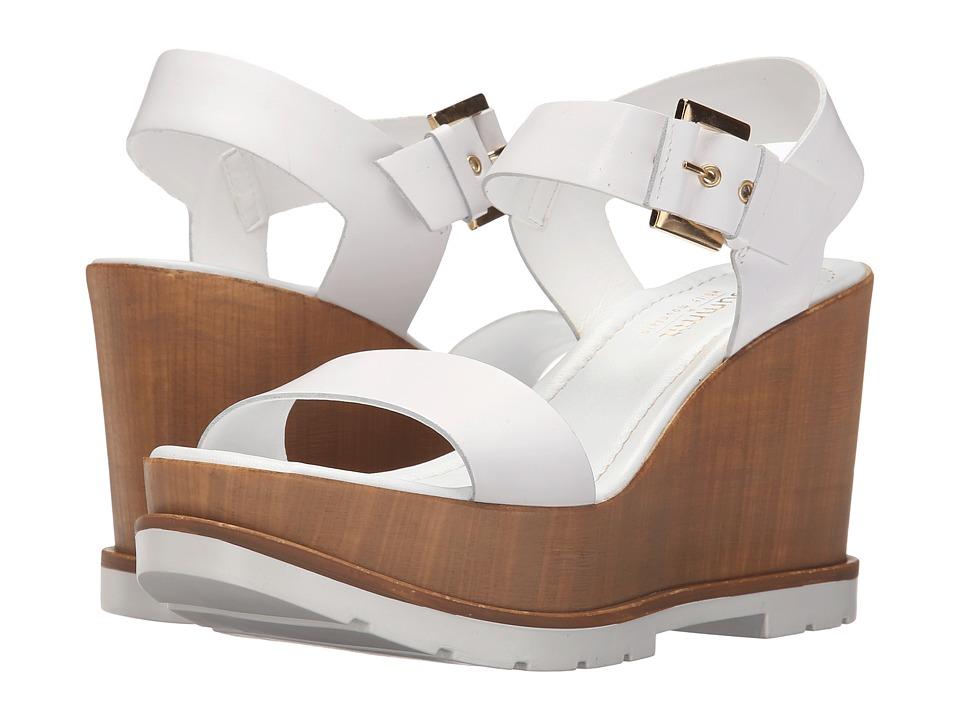 Summit White Mountain Vivianne White Leather Womens Wedge Shoes