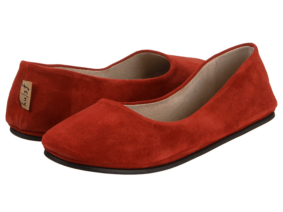 French Sole Sloop (Red Suede) Flats