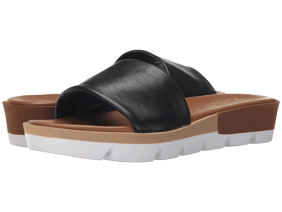 Summit White Mountain Faye Black Leather Womens Sandals