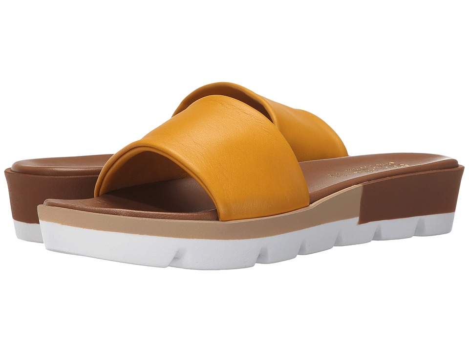 Summit White Mountain Faye Yellow Leather Womens Sandals