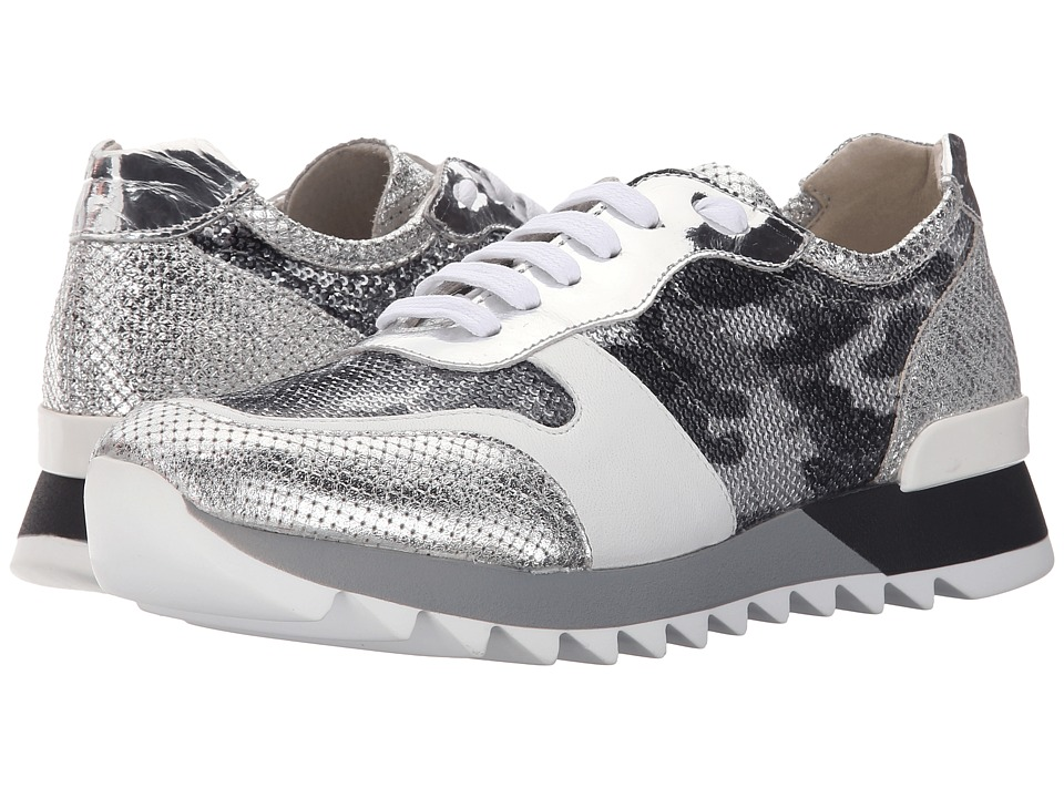 Summit White Mountain Bessie Silver Multi Metallic Exotic Womens Lace up casual Shoes