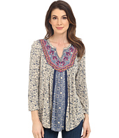 Lucky Brand - Embroidered Bib Top