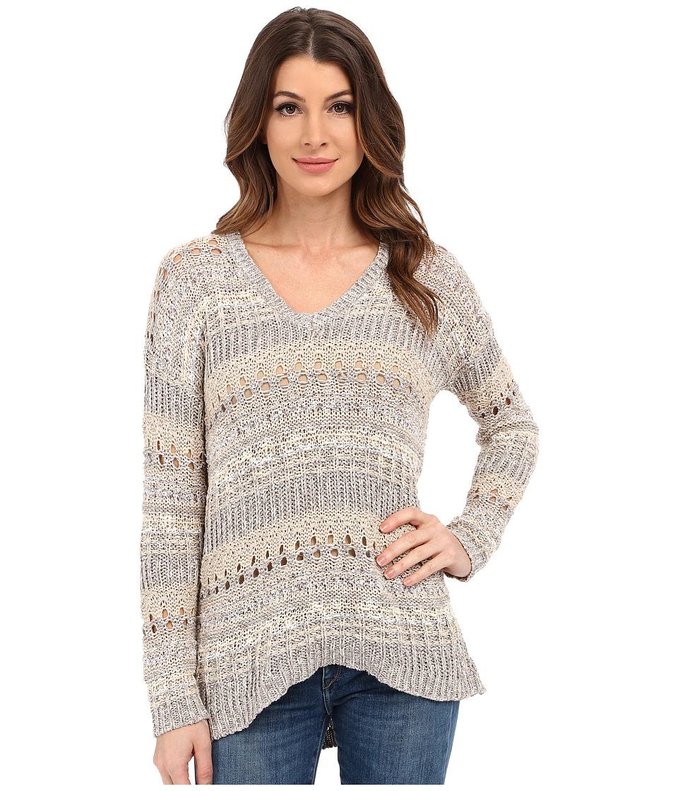 Lucky Brand Mixed Stitch Tunic Natural Multi Womens Sweater